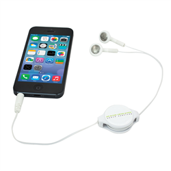 Retractable Earbuds  White